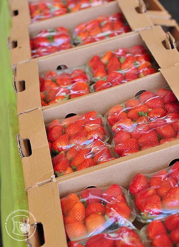 Bandejas de morango