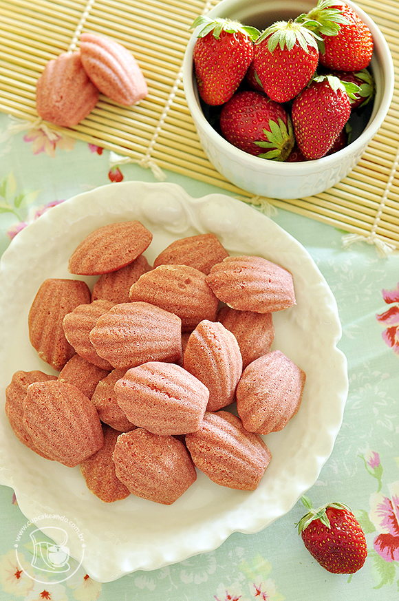 Madeleines de morango