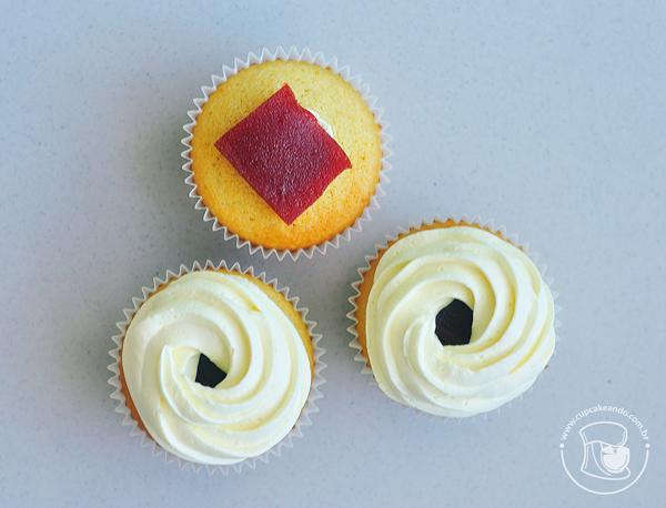 Cupcakes de queijo e goiabada