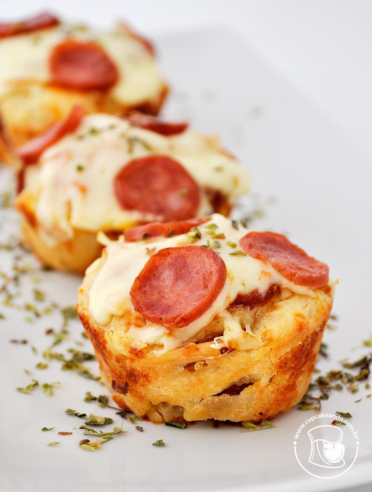 Cupcakes de pizza do blog.