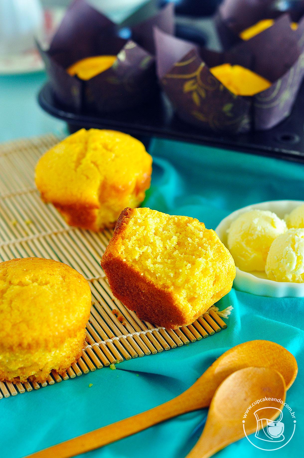 Muffins de milho ou fubá, ou cornbreads