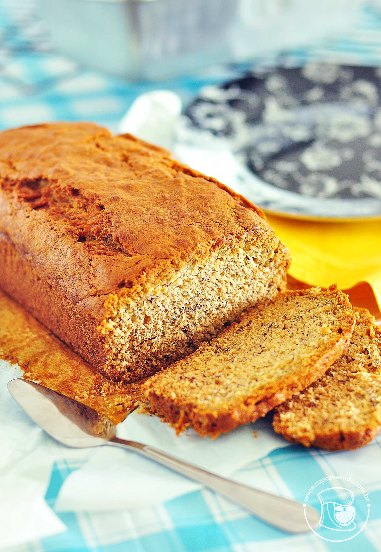 Banana bread, bolopão ou bolo tipo pão de banana