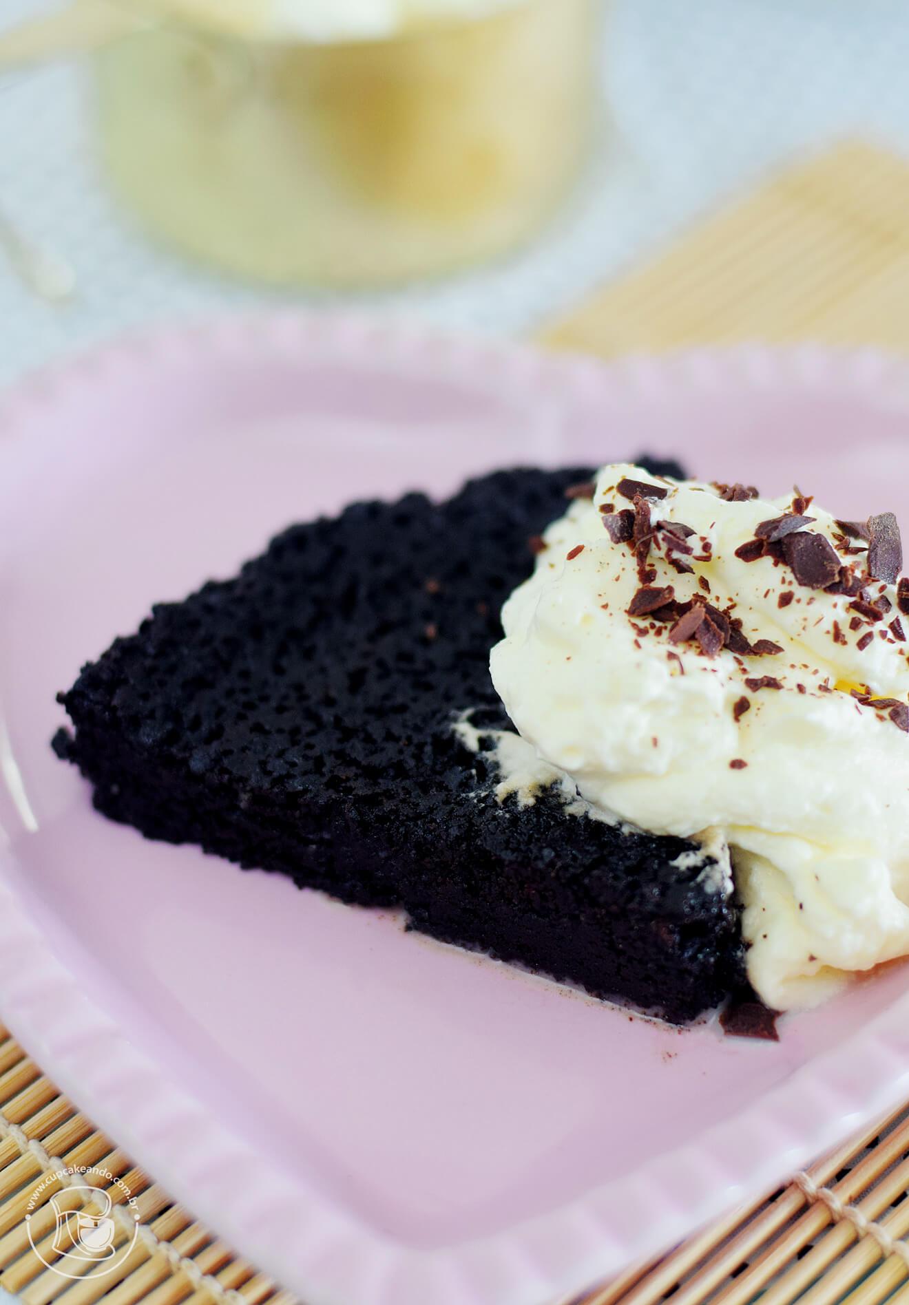Torta búlgara caseira deliciosa, puro chocolate