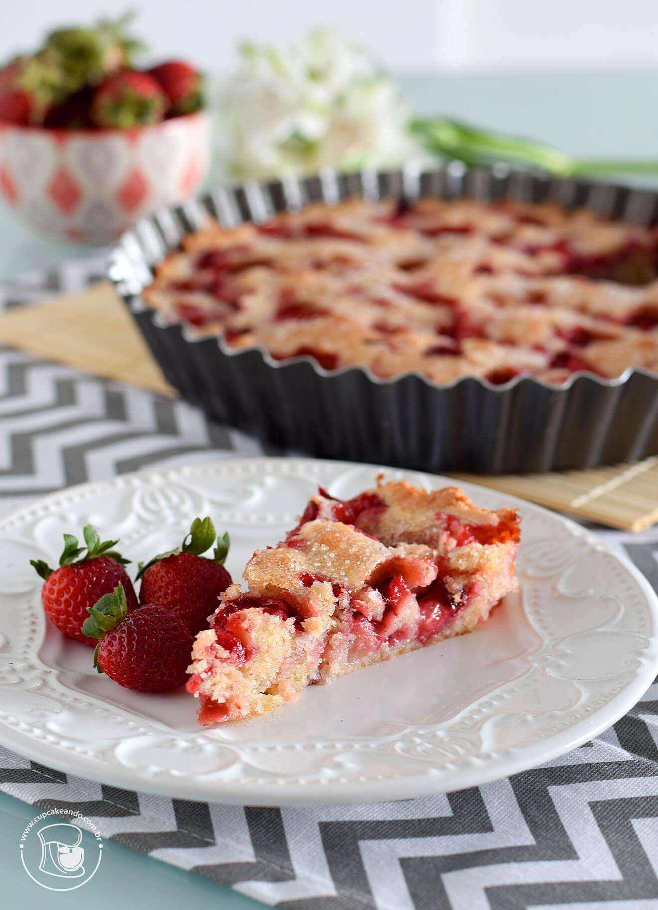 Torta fácil de morango